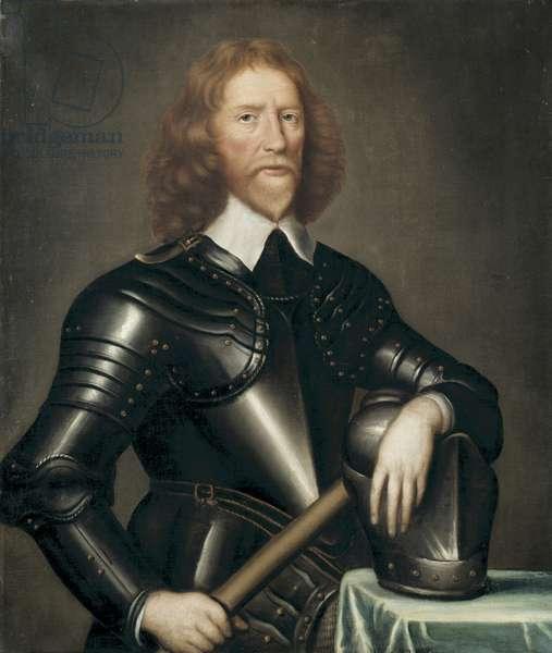 Portrait of Sir Francis Wortley, mid 17th century (oil on board)