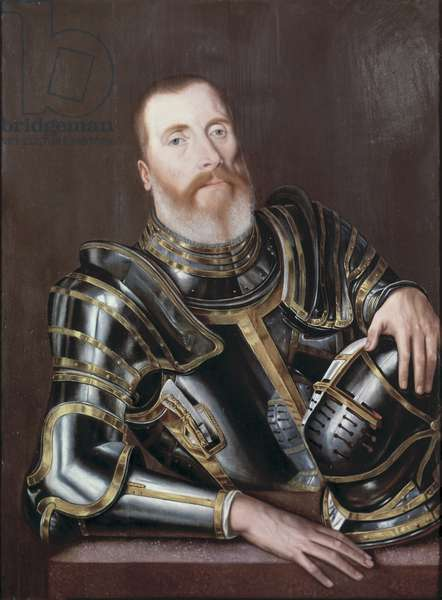 Portrait of John Mordaunt, Lord Mordaunt of Turvey, mid 16th century (oil on panel)