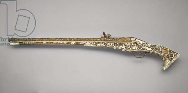 Wheellock pistol known as the 'Forget-me-not' pistol, 1585 (walnut & mother of pearl)