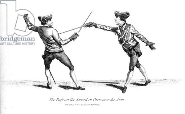 The pass on the sword in carte over the arm, c.1783 (engraving)