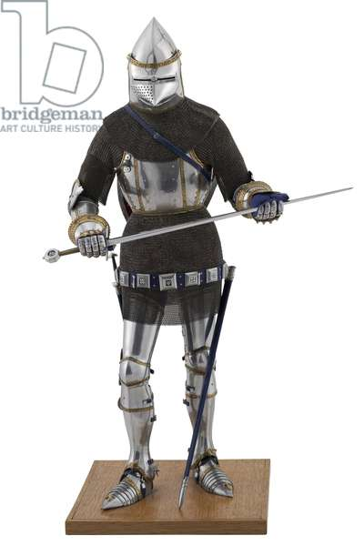 Model of a man at arms in Italian armour of the late 14th century (mixed media)