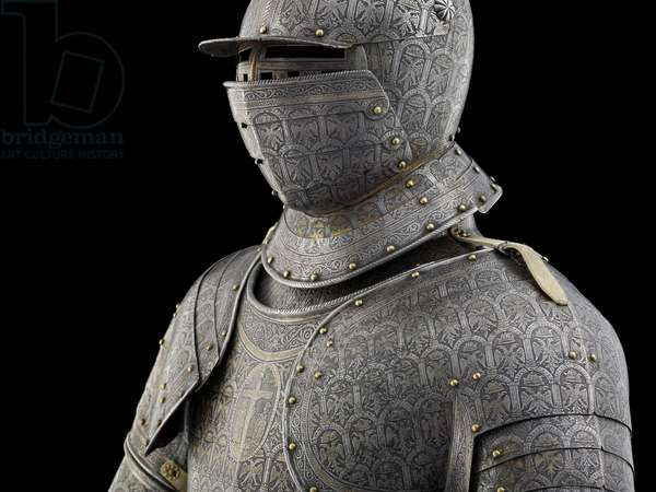 Detail of demilance armour of Count Annibale Capodilista, c.1620 (metal)