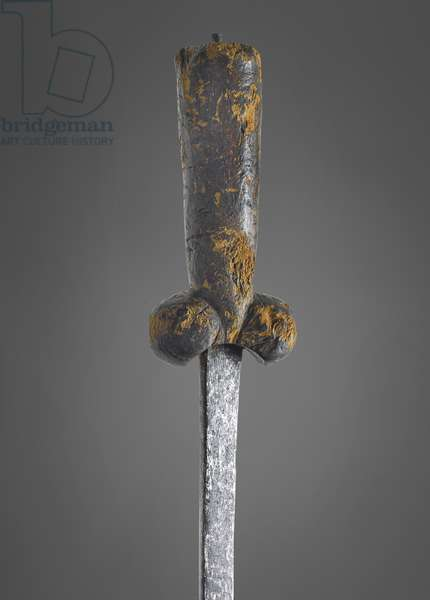 Bollock dagger and sheath, late 15th century (metal)