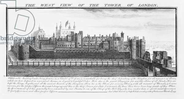 The West View of the Tower of London, 1737 (engraving)