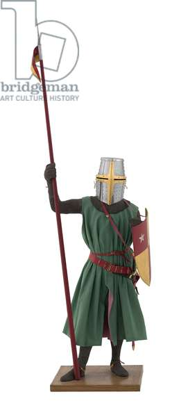 Model of a man at arms in Italian armour of the late 13th century (mixed media)