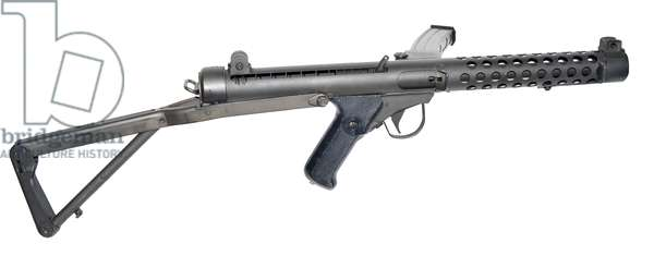 Canadian SMG 9 mm C1 with stock extended., 1957 (photo)