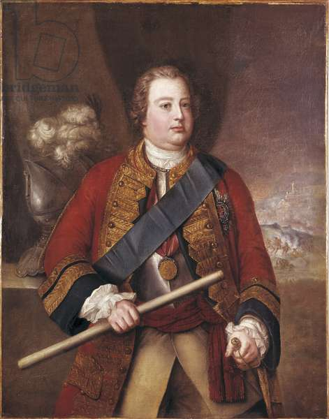 Portrait of William Augustus, Duke of Cumberland, mid 18th century (oil on panel)