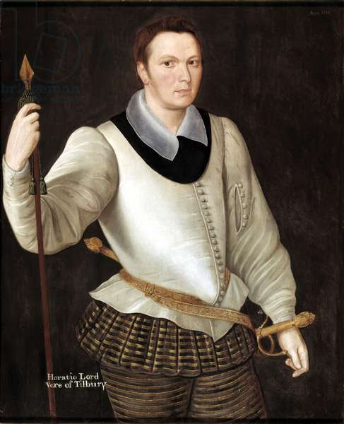 Portrait of Horace, Lord Vere of Tilbury, 1594 (oil on panel)