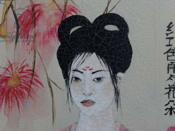 Chinese Women (triptych) 2015 (acrylic on canvas) 2 detail