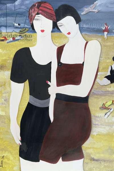 Mia Sorella, 2004 (acrylic with collage on paper)