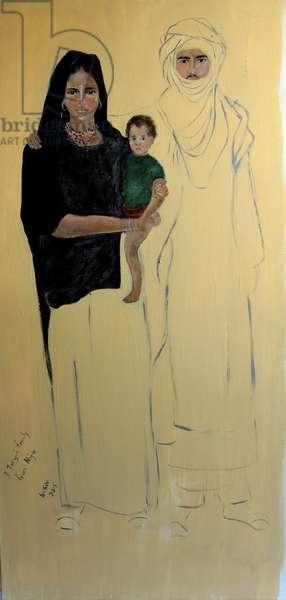 Tuareg Family(acrylic on canvas) 2015