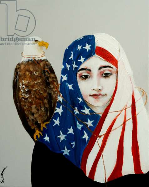 A Patriot, 2017, (oil and acrylic on canvas)