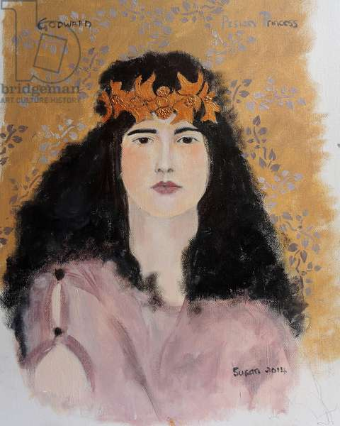 Princess with crown 2014 (after Godward) (acrylic on canvas)