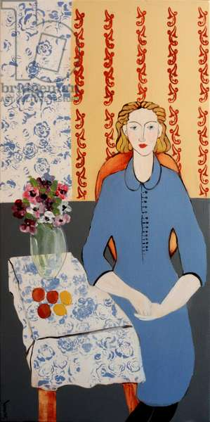 Woman in Blue Dress (after Matisse)