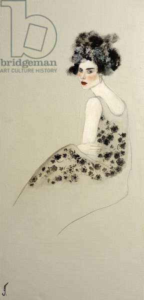Women in Evening Dress, 2016, (acrylic on canvas)