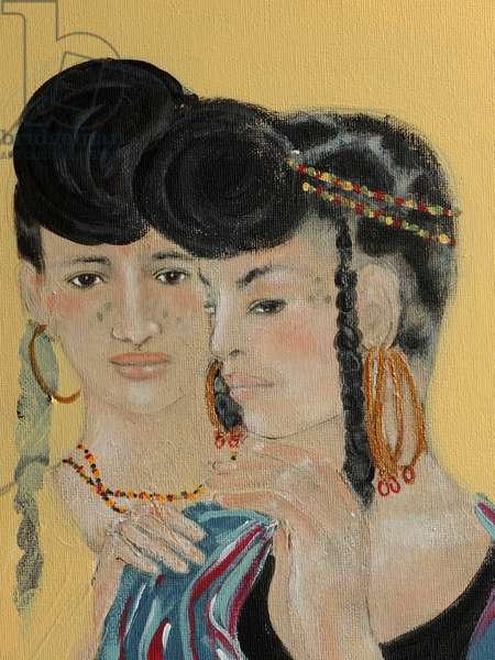 Close up of 2 Wodaabe women