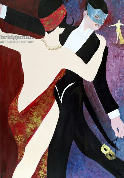 The Dance, 2004 (acrylic with collage on paper)
