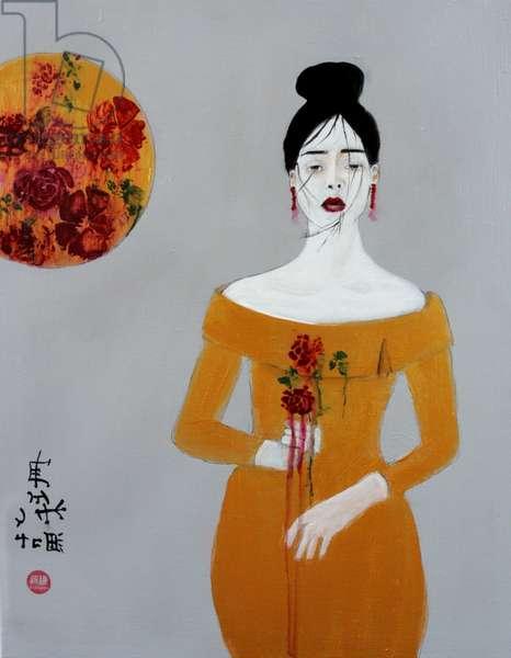 Chinese Fashion 3, 2016, (acrylic on canvas)