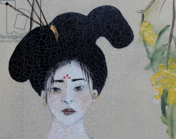 Chinese woman (triptych) 2015(acrylic on canvas) detail 1