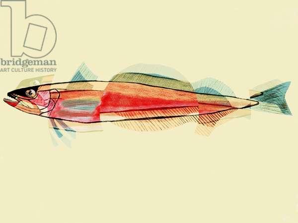 Fishy Fishy, 2019, (mixed media)