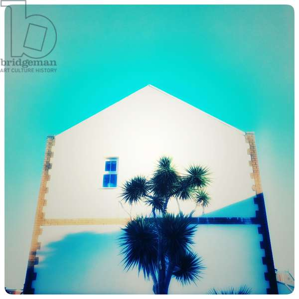 The Blue house, 2017, (color photography)
