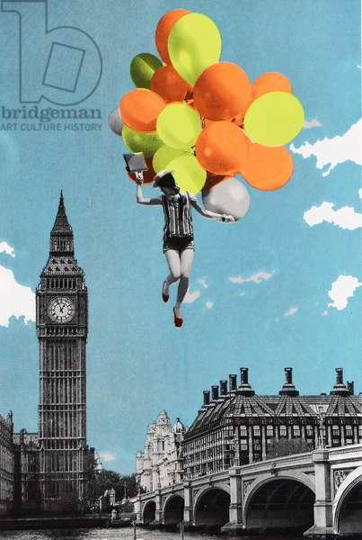 Balloons, 2017, (screen print)