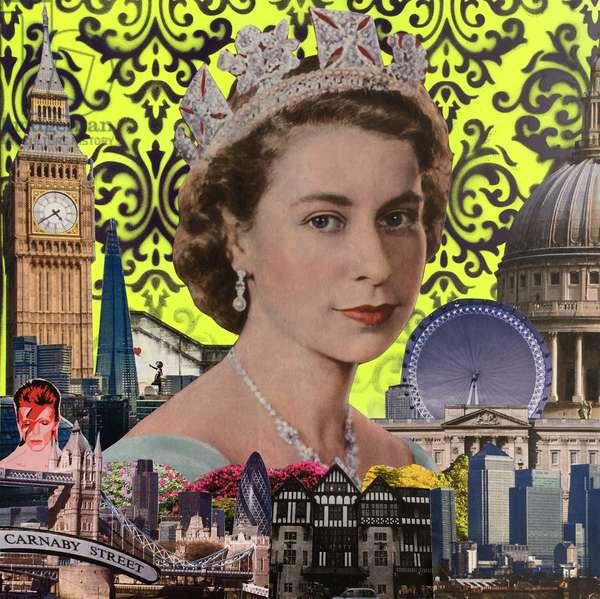 Queen, 2015, (mixed media)
