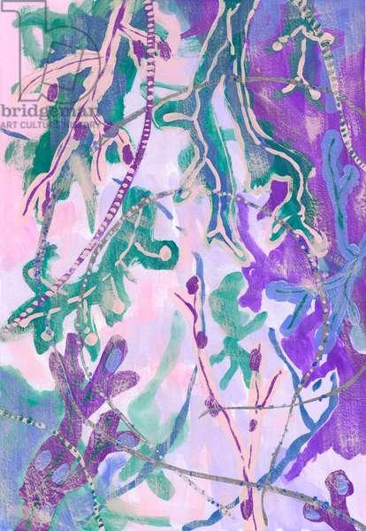 Purple Seaweed, 2018 (gouache on paper)