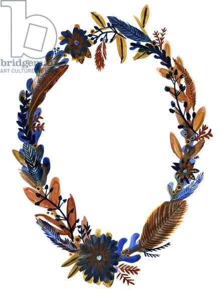 Autumn Wreath II, 2018 (gouache on paper)