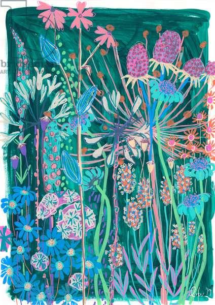 Viridian Garden House, 2019 (gouache on paper)