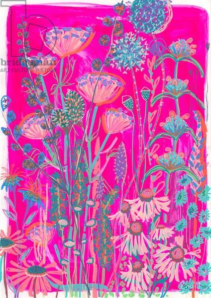 Pink Garden House, 2019 (gouache on paper)