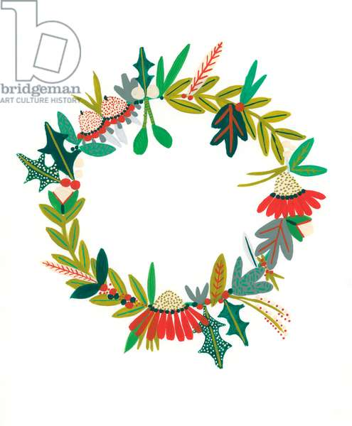 Wreath I, 2018 (gouache on paper)