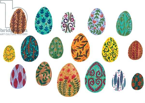 Eggs (Eggcellent, Eggcellent), 2018 (watercolour on card)