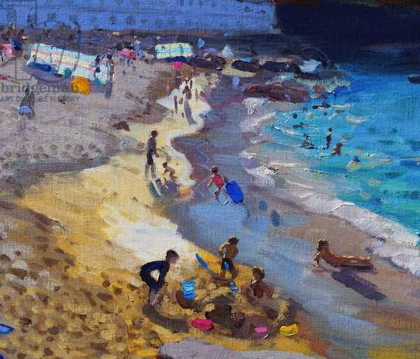 Detail of Overlooking Porthmeor beach,St Ives,2015,(oil on canvas)