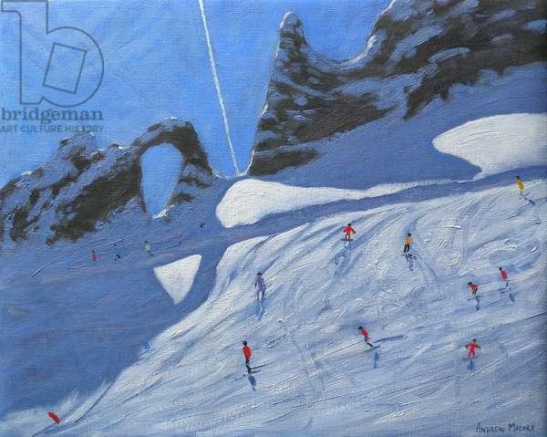 L'aiguille Percee, Tignes, 2009 (oil on canvas)