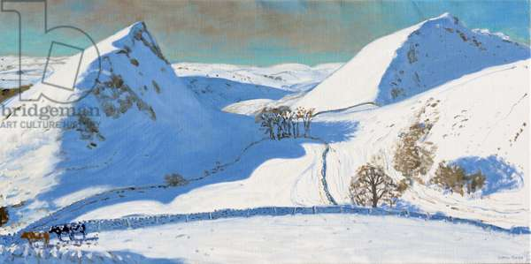 Chrome Hill,Derbyshire,(oil on canvas)