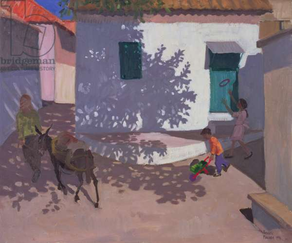 Green Door and Shadows, Lesbos, 1996 (oil on canvas)