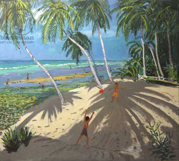 Palm trees,Clovelly beach,Barbados,2013,(oil on canvas)