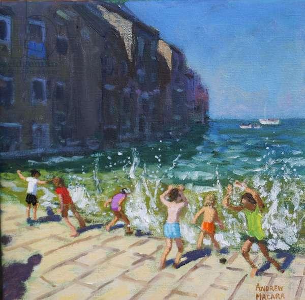 Seafront,Rovinj,Croatia,(oil on canvas)