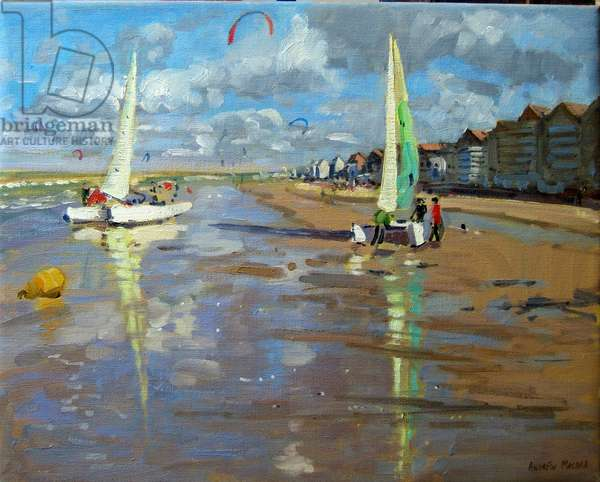 Reflection, Bray Dunes, France (oil on canvas)
