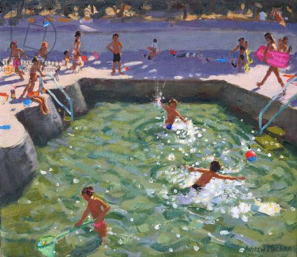 Childrens pool,Vrsar,Croatia,2017, (oil on canvas)