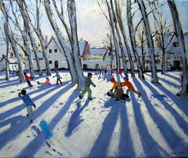 The Begijnhof, Bruges, 2005 (oil on canvas)