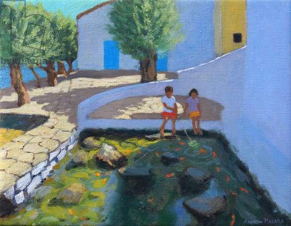 Fish pond, Milos,Greece,  2017,(oil on canvas)