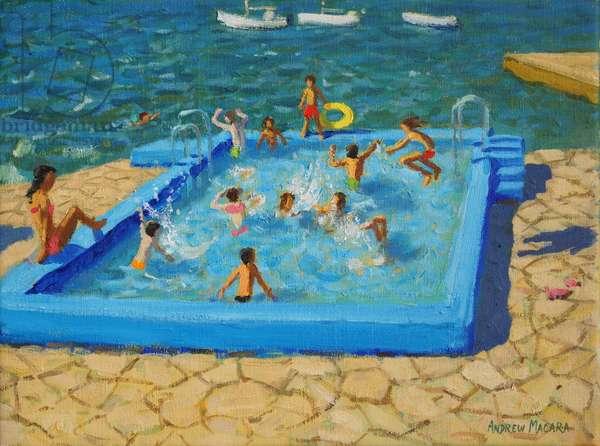 Blue pool,Vrsar,Croatia,2017,(oil on canvas)