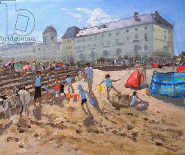 BRIGHT MORNING,LLANDUDNO ,2009, ( oil on canvas)