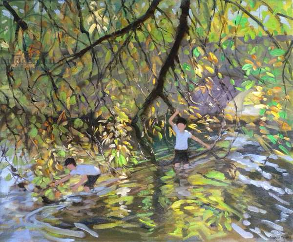 River Wye, 2008 (oil on canvas)