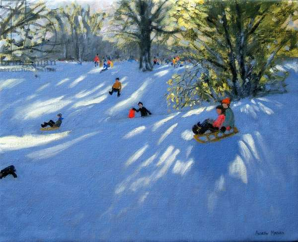 Early snow, Darley Park, Derby (oil on canvas)