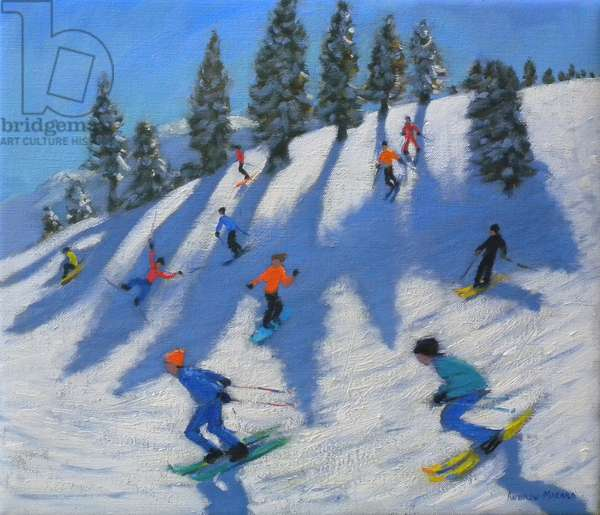 Skiers, Lofer, 2010 (oil on canvas)