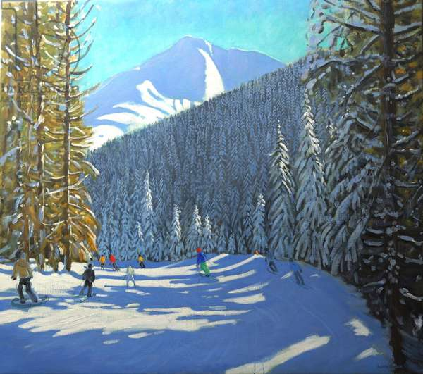 Skiing, Beauregard La Clusaz, 2012 (oil on canvas)