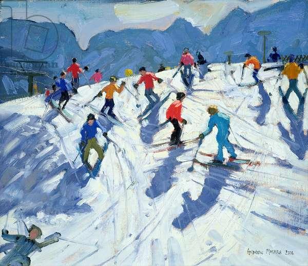 Busy Ski Slope, Lofer, 2004 (oil on canvas)